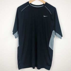 Nike Dri Fit workout shirt black gray XL